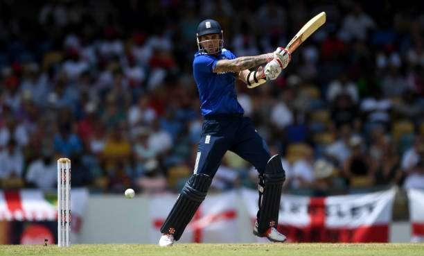BRIDGETOWN, BARBADOS - MARCH 09: Alex Hales of England bats during the 3rd One Day International between the West Indies and England at Kensington Oval on March 9, 2017 in Bridgetown, Barbados. (Photo by Gareth Copley/Getty Images)