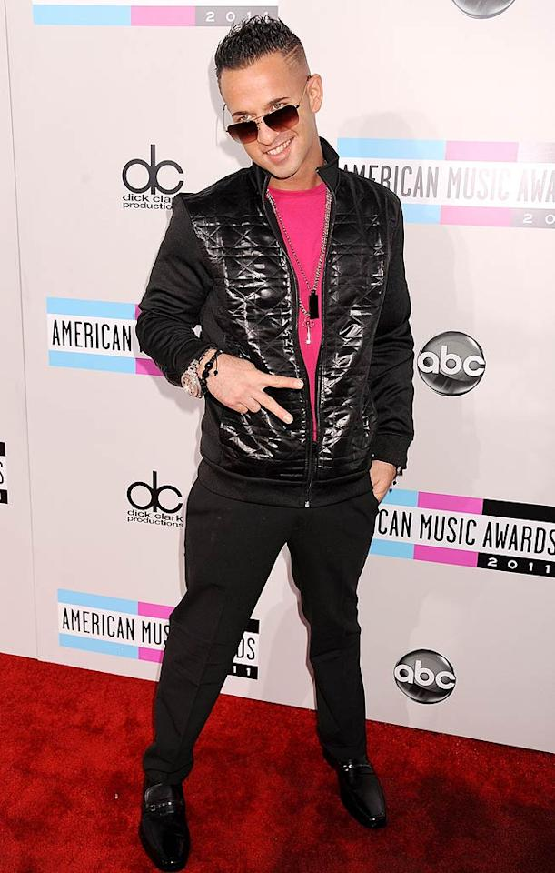 """Jersey Shore"" star Mike ""The Situation"" Sorrentino arrives at the 2011 American Music Awards held at the Nokia Theatre L.A. LIVE. (11/20/2011)"