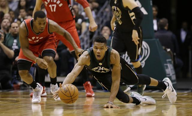 Kyle Lowry's back for the Raptors, but Giannis Antetokounmpo's eager to make a splash in his second postseason.
