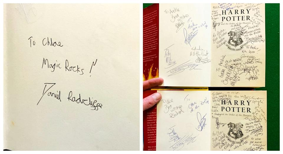 Signed editions of Harry Potter (SWNS)