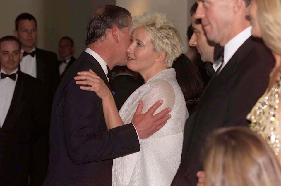 <p>If a celebrity and a royal have crossed paths numerous times, there's a good chance the formality of protocol will give way and they'll go in for a cheek kiss or hug. Still, the royal should initiate.</p>