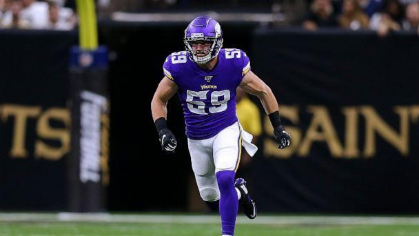 PHOTO: In this Aug. 9, 2019, file photo, Cameron Smith of the Minnesota Vikings runs during a preseason game at the Mercedes Benz Superdome in New Orleans. (Jonathan Bachman/Getty Images, FILE)