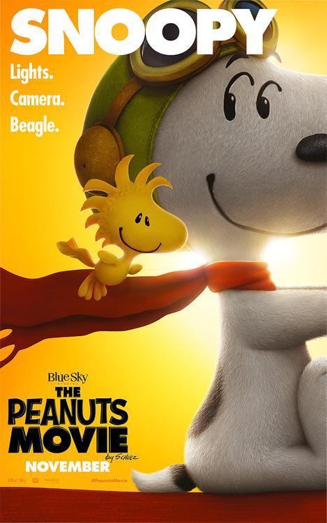 Woodstock and Snoopy 'Peanuts' movie poster