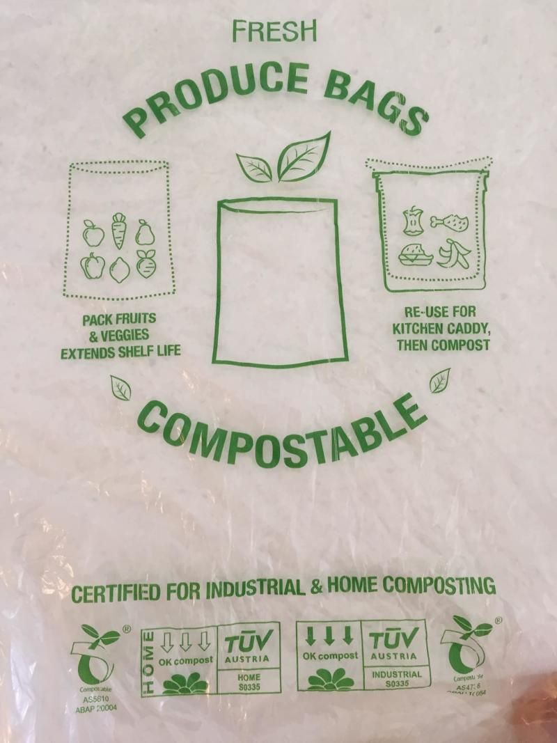 A picture of a compostable bags which are more expensive to make. Source: Facebook