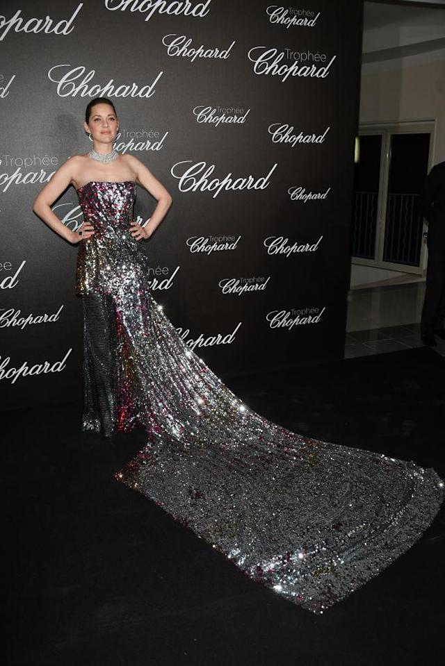 Marion Cotillard brought the glam in Halpern. (Photo: Getty Images)