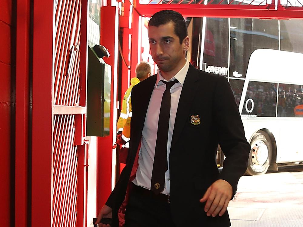 Henrikh Mkhitaryan was substituted during the draw against West Brom: Getty