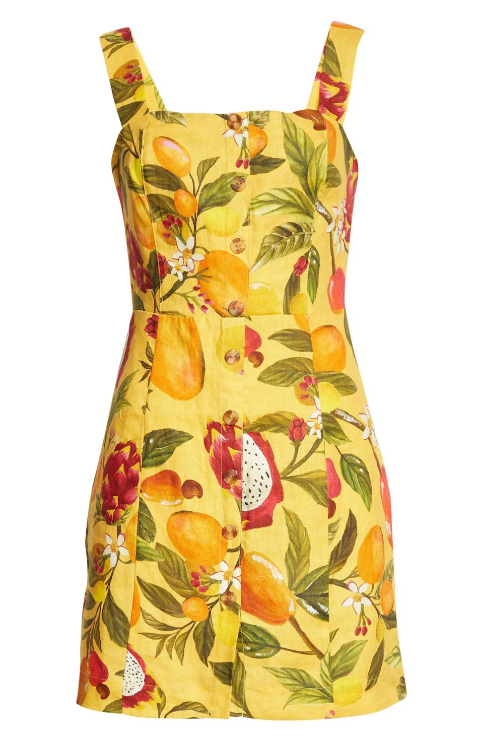 <p>This <span>Farm Rio Fruit Lovers Linen Minidress</span> ($135) will infuse your wardrobe with tropical joy.</p>