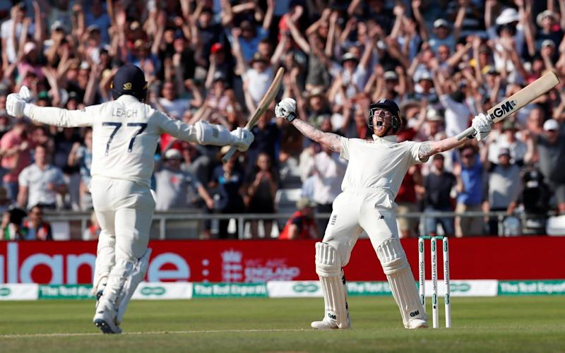 Headingley erupts as Ben Stokes hits the winning runs for England - Action Images via Reuters