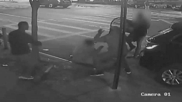 PHOTO: A still image taken from a surveillance video provided by NYPD shows suspects in connection to a mugging of a 60-year-old man on Dec. 24, 2019 in the the Morrisania neighborhood of the Bronx in New York. (NYPD)