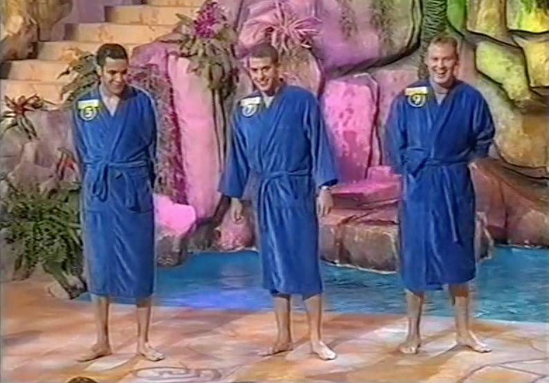 This '90s show gave the female contestants all the power. <br /><br />Each round, they'd be presented with a line-up of men, and if they didn't like what they saw... they pushed them in a swimming pool behind them.<br /><br />A simple - but no doubt satisfying - format.