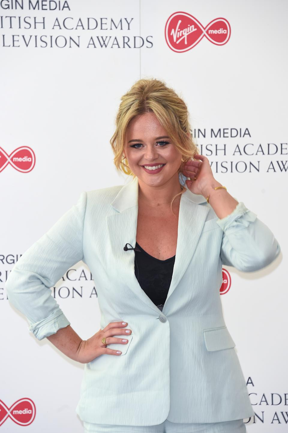 Emily Atack attends the Virgin Media British Academy Television Award 2020 at Television Centre on July 31, 2020 in London, England. (Photo by David M. Benett/Dave Benett/Getty Images)