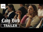"<p><em>Lady Bird</em> was Greta Gerwig's directorial debut, and the movie follows high school senior Christine McPherson (played by Saoirse Ronan) as she longs to leave her hometown of Sacramento for a larger city and butts heads with her traditionalist mother. - TA</p><p><a href=""https://www.youtube.com/watch?v=cNi_HC839Wo"" rel=""nofollow noopener"" target=""_blank"" data-ylk=""slk:See the original post on Youtube"" class=""link rapid-noclick-resp"">See the original post on Youtube</a></p>"
