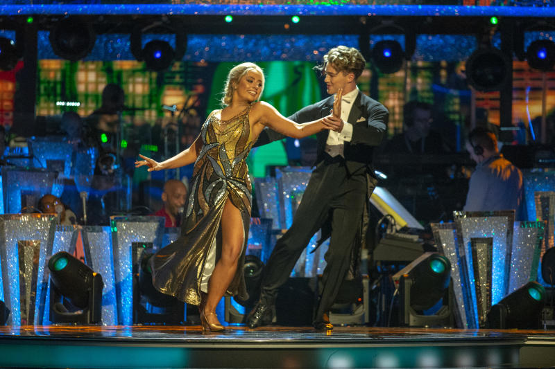 Saffron Barker and AJ Pritchard performed the Foxtrot (Credit: BBC)