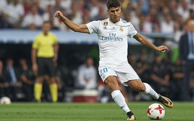 Criminally smooth: Marco Asensio apparently picked up an infection while shaving his legs - Getty Images Europe