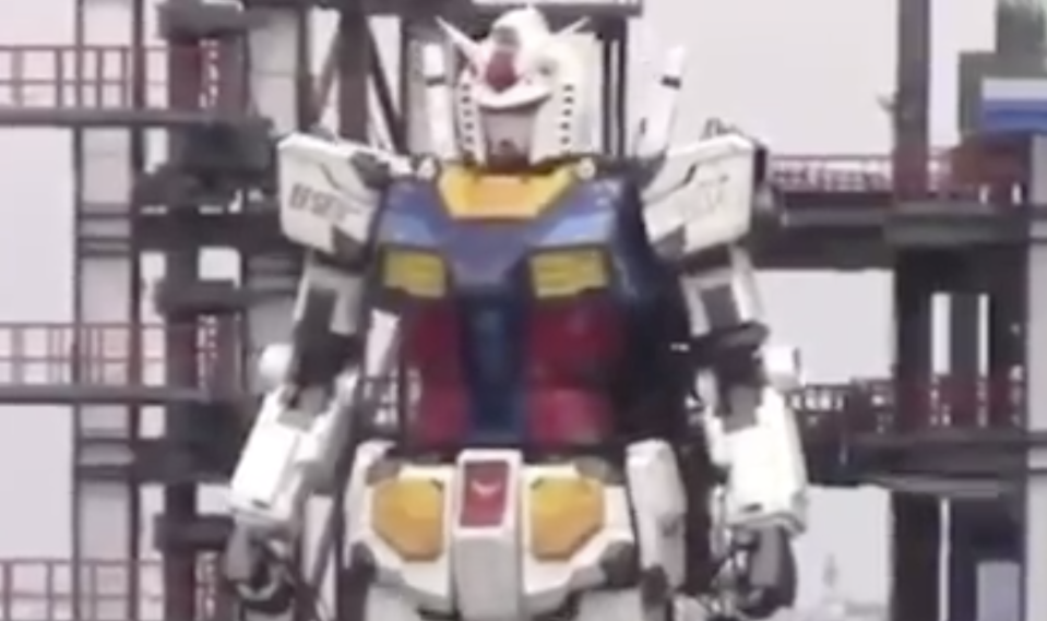 Japan built a life-sized Gundam robot and Twitter is freaking out: 'Anyone have this on their 2020 bingo card?'