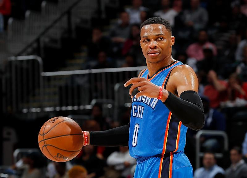 Oklahoma City's Russell Westbrook is current NBA scoring leader (AFP Photo/Kevin C. Cox)