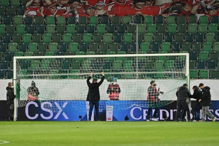 Goalmouth incident: kick off was delayed in St Gallen as one goal was replaced