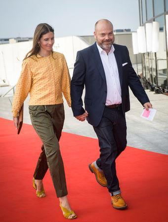 The Bestseller company owner Anders Holch Povlsen and his wife Anne arrive at the celebration of the 50th birthday of Crown Prince Frederik of Denmark in Royal Arena in Copenhagen, Denmark, May 27, 2018. Picture taken May 27, 2018. Ritzau Scanpix/via REUTERS ATTENTION EDITORS - THIS IMAGE WAS PROVIDED BY A THIRD PARTY. DENMARK OUT. NO COMMERCIAL OR EDITORIAL SALES IN DENMARK.