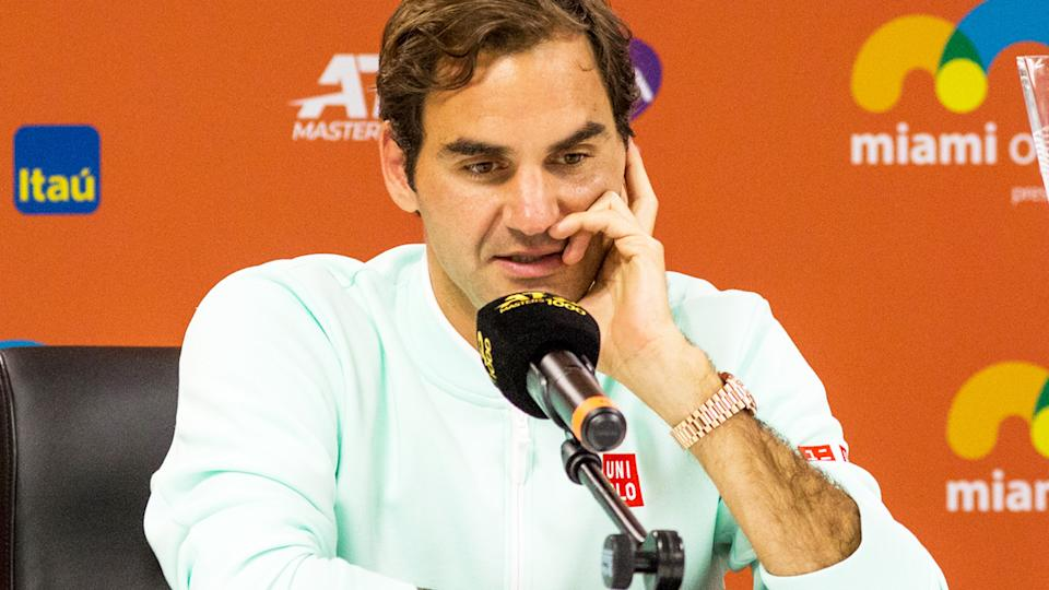 Roger Federer, pictured here at the Miami Open in 2019.