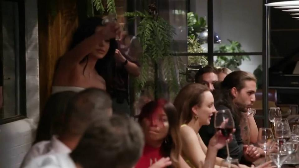 Martha pours her wine over Cyrell in Married At First Sight