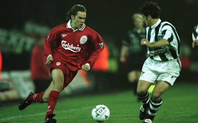Jason McAteer in action for Liverpool against West Brom in 1997 - Getty Images Sport