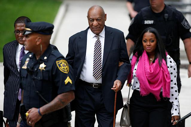 <p>Actor and comedian Bill Cosby arrives for the first day of his sexual assault trial at the Montgomery County Courthouse in Norristown, Pa., June 5, 2017. (Photo: Brendan McDermid/Reuters) </p>