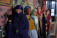 """<p>The six-part 'musical comedy' follows Amina (Anjana Vasan), a microbiology PHD student on the lookout for love, who soon meets the all-female punk band, Lady Parts. Band members include frontwoman Saira (Sarah Kameela Impey), taxi-driving drummer Ayesha's (Juliette Motamed), cartoon-drawing bassist and backing vocalist Bisma (Faith Omole) and band manager Momtaz (Lucie Shorthouse). While the rest of the group aren't sure Amina is right for the band, Saira sees something in her and suggests playing matchmaker for her in exchange for Amina joining the band.</p><p><a class=""""link rapid-noclick-resp"""" href=""""https://www.channel4.com/programmes/we-are-lady-parts"""" rel=""""nofollow noopener"""" target=""""_blank"""" data-ylk=""""slk:WATCH NOW"""">WATCH NOW</a></p>"""