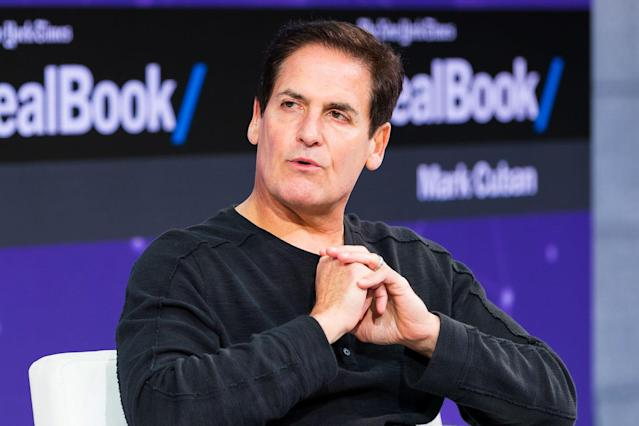 Mark Cuban shared his views on the sports and entertainment industries at the DealBook Conference in New York Thursday.
