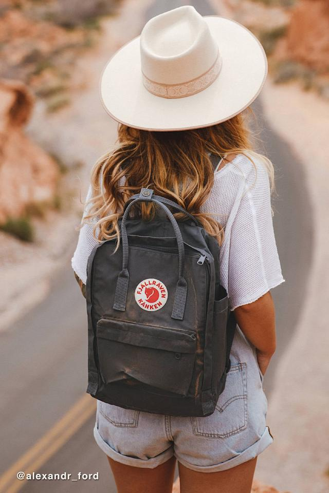 "<p>You can't go wrong with this popular <a href=""https://www.popsugar.com/buy/Fjallraven-Kanken-Backpack-555010?p_name=Fjallraven%20Kanken%20Backpack&retailer=urbanoutfitters.com&pid=555010&price=80&evar1=savvy%3Aus&evar9=47291361&evar98=https%3A%2F%2Fwww.popsugar.com%2Fsmart-living%2Fphoto-gallery%2F47291361%2Fimage%2F47291451%2FFjallraven-Kanken-Backpack&list1=shopping%2Ctravel%2Cbags%2Cbackpacks%2Ctravel%20style%2Ctravel%20goods&prop13=mobile&pdata=1"" rel=""nofollow"" data-shoppable-link=""1"" target=""_blank"" class=""ga-track"" data-ga-category=""Related"" data-ga-label=""https://www.urbanoutfitters.com/shop/fjallraven-kanken-backpack-002?category=bags-wallets-for-women&amp;color=005&amp;type=REGULAR&amp;size=ONE%20SIZE&amp;quantity=1"" data-ga-action=""In-Line Links"">Fjallraven Kanken Backpack</a> ($80).</p>"