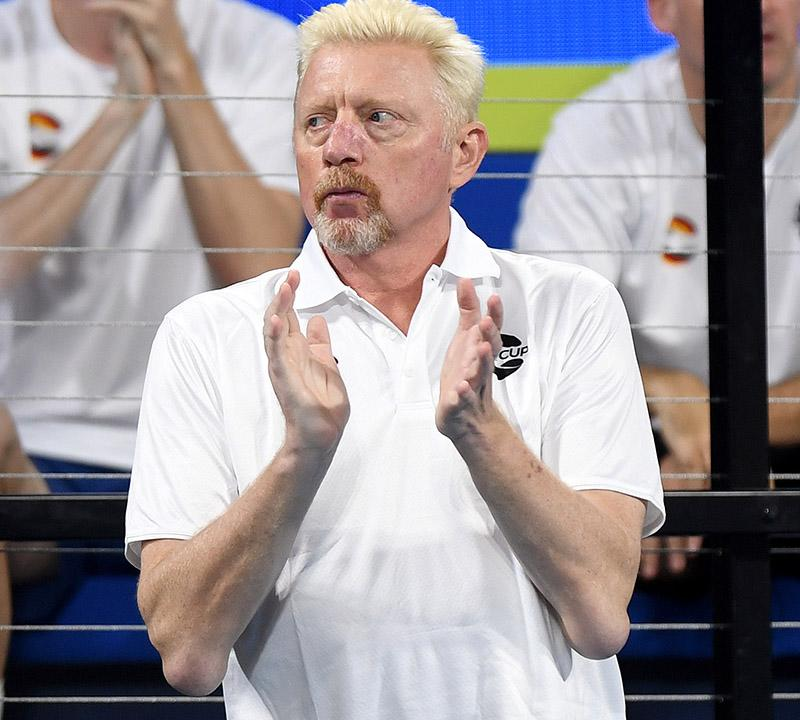 Boris Becker, pictured here at the ATP Cup in Australia in January.