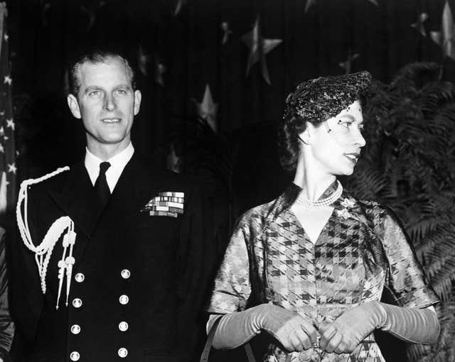 Princess Elizabeth and the Duke of Edinburgh in Washington DC