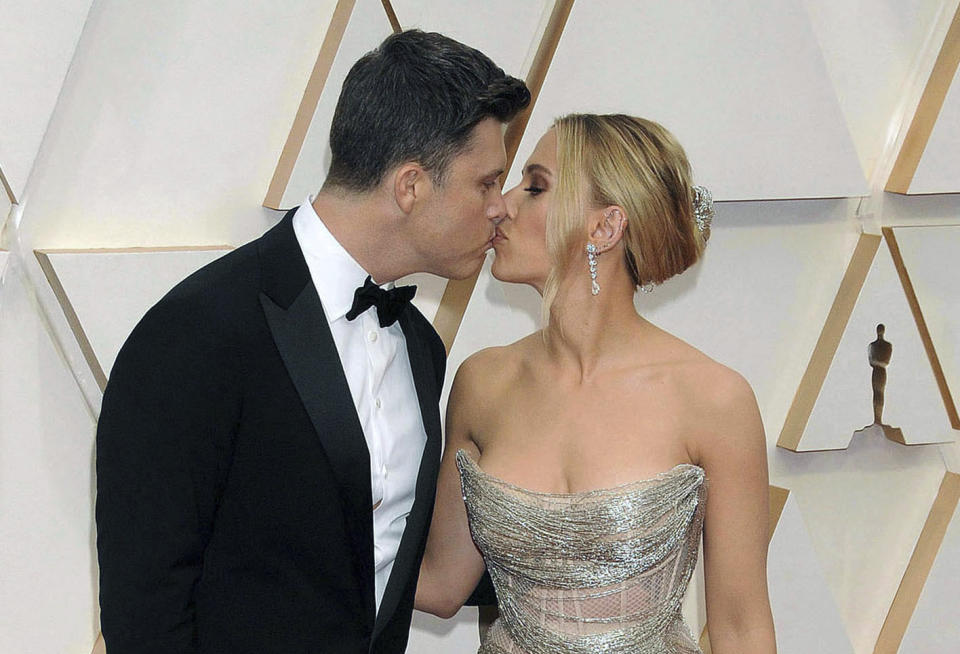 October 29th 2020: Scarlett Johansson and Colin Jost were married in a private wedding ceremony on the weekend of October 24th and October 25th 2020 in Palisades, New York. - File Photo by: zz/Galaxy/STAR MAX/IPx 2020 2/9/20 Scarlett Johansson and Colin Jost at the 92nd Annual Academy Awards (Oscars) presented by the Academy of Motion Picture Arts and Sciences on February 9, 2020 in Hollywood, CA, USA.