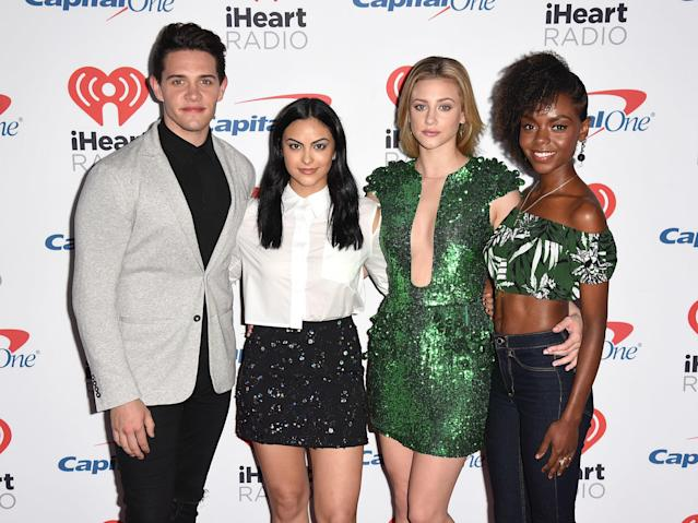 """Reinhart and her """"Riverdale"""" co-stars. (C Flanigan via Getty Images)"""