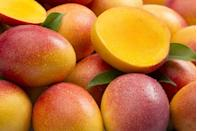 """<p>Munch on mango for a summery, delicious tropical treat filled with <a href=""""https://www.goodhousekeeping.com/health/diet-nutrition/g35351259/vitamin-c-foods/"""" rel=""""nofollow noopener"""" target=""""_blank"""" data-ylk=""""slk:vitamin C"""" class=""""link rapid-noclick-resp"""">vitamin C</a>, potassium- and beta-carotene. We love making a big batch of mango-filled skewers and loading up the fridge or freezer, so they're always on hand when you need a nosh. Plus, the prep gets your little ones involved in the kitchen, and that kabob adds an extra layer of fun! Diced mango is wonderful in a salad, or freeze chunks to throw into <a href=""""https://www.goodhousekeeping.com/food-recipes/healthy/g4060/healthy-smoothie-recipes/"""" rel=""""nofollow noopener"""" target=""""_blank"""" data-ylk=""""slk:smoothies"""" class=""""link rapid-noclick-resp"""">smoothies</a>.</p>"""