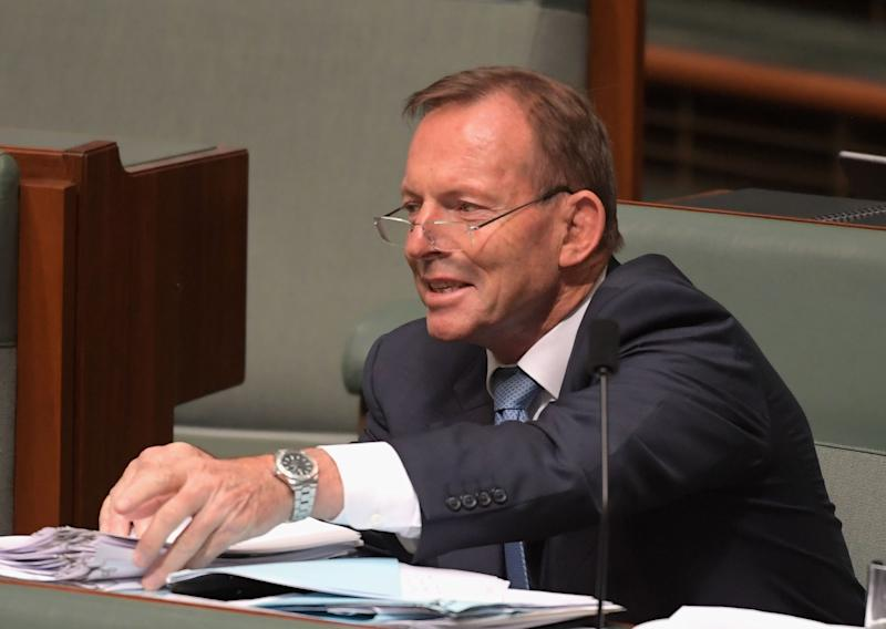 CANBERRA, AUSTRALIA - DECEMBER 05: Former Prime Minister Tony Abbott sits on the back bench during question time at Parliament House on December 5, 2018 in Canberra, Australia. The Government is pushing to have its controversial encryption legislation passed in the final days of parliament before the Christmas break. (Photo by Tracey Nearmy/Getty Images)