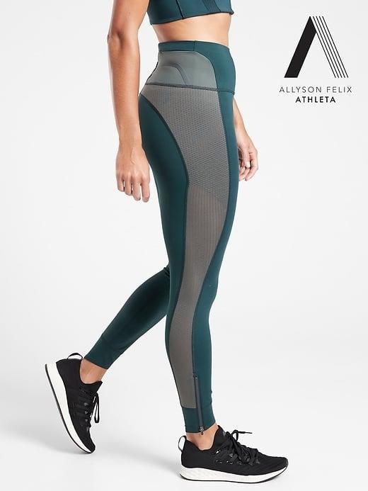 <p>If Felix loves the <span>Athleta Legend Mesh 7/8 Tight</span> ($90), we know it's got to be good. These tights were designed for medium- to high-impact workouts, are made with recycled nylon, and provide supportive compression. </p>