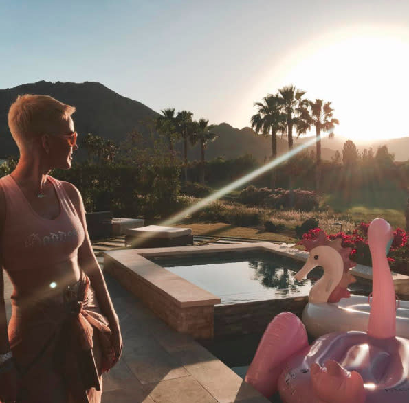 "<p><a href=""https://www.yahoo.com/celebrity/tagged/katy-perry/"" data-ylk=""slk:Katy Perry"" class=""link rapid-noclick-resp"">Katy Perry</a> went VIP for her 2017 Coachella trip in April! She stayed in a posh pad with a pool and an array of floats to choose from, including a seahorse. But do goddesses ride seahorses? Well, this one does whatever she wants. (Photo: <a href=""https://www.instagram.com/p/BS43pC7D9Wb/?taken-by=katyperry&hl=en"" rel=""nofollow noopener"" target=""_blank"" data-ylk=""slk:Katy Perry via Instagram"" class=""link rapid-noclick-resp"">Katy Perry via Instagram</a>) </p>"