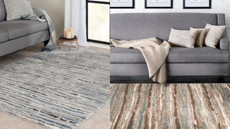 The multi-colored stripes make this rug very versatile.