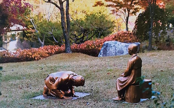 The statue is on prominent display in the Korea Botanical Garden in Pyeongchang - The Korea Botanical Garden/The Korea Botanical Garden