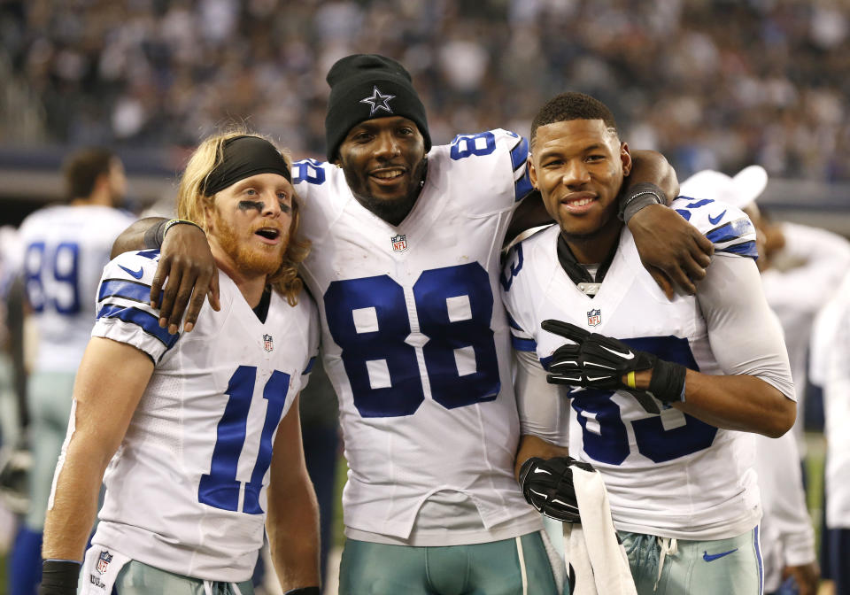 While Dez Bryant (88) got the franchise tag, Cole Beasley (11) got a new deal. (USA TODAY Sports)
