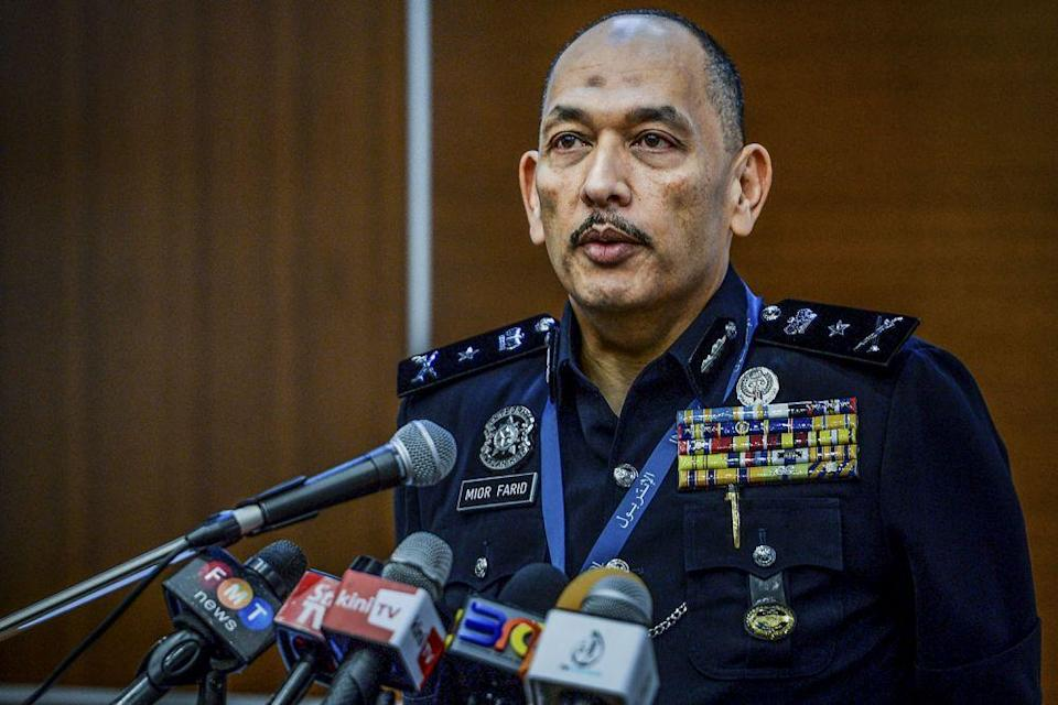 Bukit Aman Criminal Investigations Department deputy director for investigations Mior Faridalathrash confirmed that federal police have questioned the graphic artist behind the cover of the book, 'Rebirth'. — Picture by Hari Anggara
