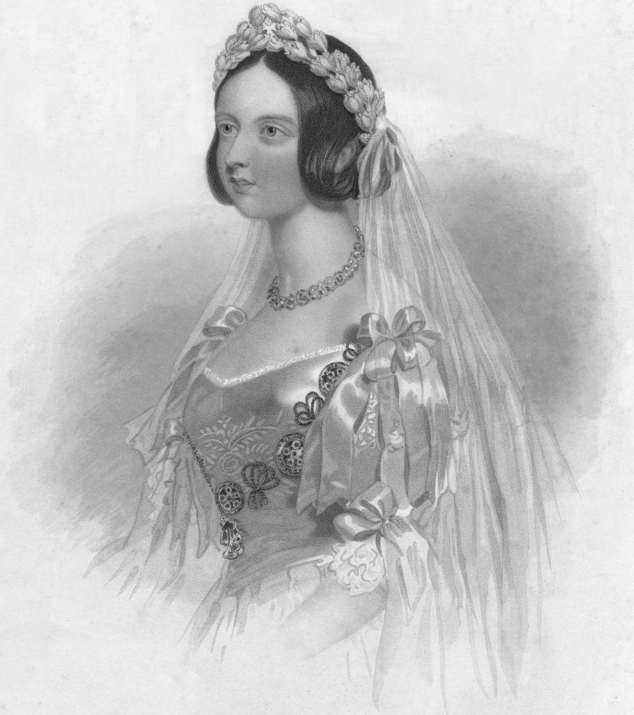<p>Queen Victoria chose a white gown for her nuptials to Prince Albert, which starting the tradition of brides wearing white on their wedding day.</p>