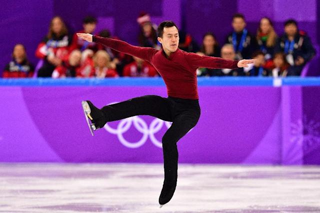 Canada's Patrick Chan bows out of the rink (AFP Photo/Mladen ANTONOV)