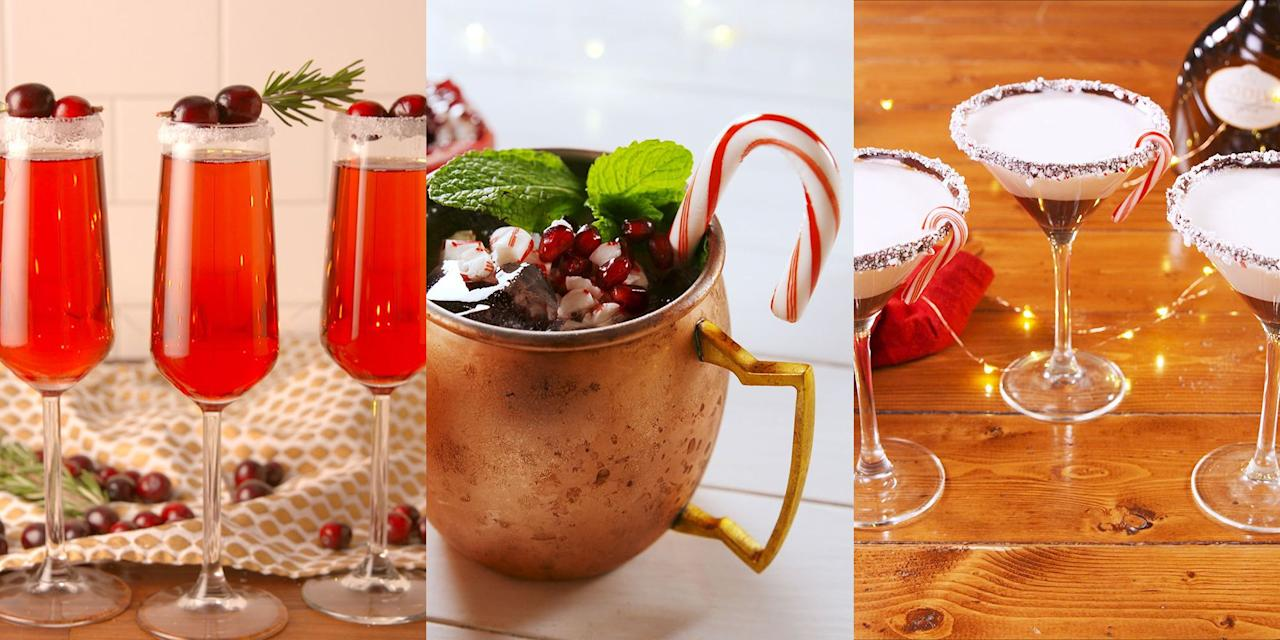 "<p>Fed up of having the same old drinks EVERY <a href=""https://www.delish.com/uk/christmas/"" target=""_blank"">Christmas</a>? (I know I am). So why not try something a bit different this year and impress your guests with a selection of amazing <a href=""https://www.delish.com/uk/cocktails-drinks/"" target=""_blank"">cocktails</a> that actually won't take a master-cocktail-shaker to make? Yep, it really is quite easy. These recipes will make you look like you went and studied Mixology for a year or two. Take your pick! </p>"
