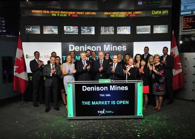 Denison Mines Corp. Opens the Market (CNW Group/TMX Group Limited)