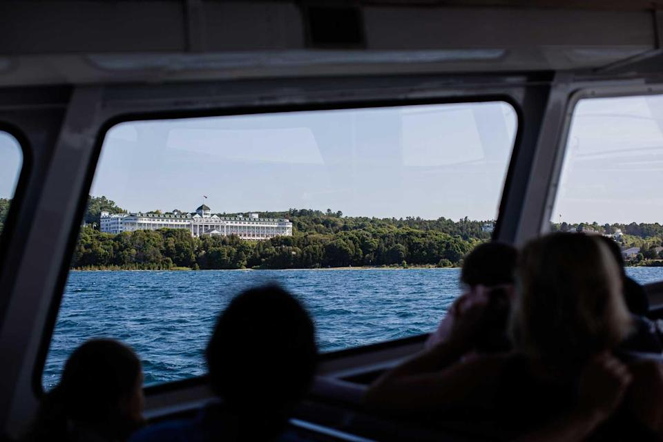 View from the ferry to Mackinac Island, Michigan