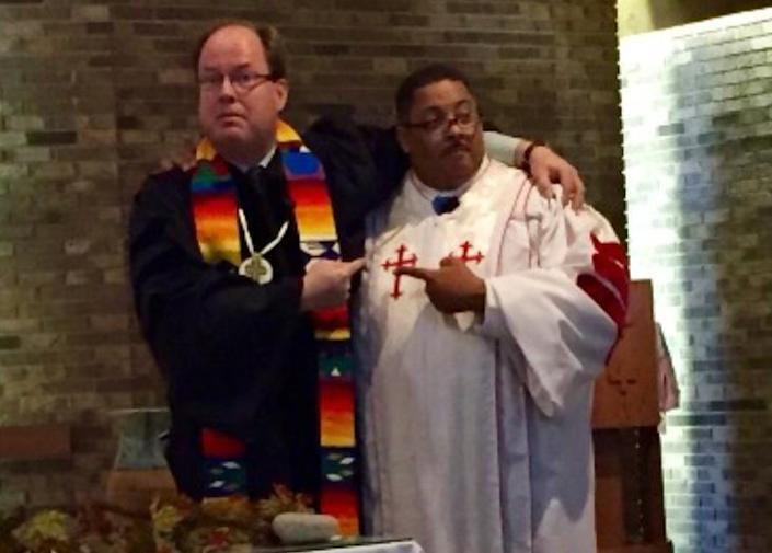 Rev. Dr. Jay Moses, pastor of Hope Presbyterian Church, left; and Rev. Dr. Ronald Beauchamp, Pastor of Bethel New Life Church, right. / Credit: courtesy Ron Beauchamp