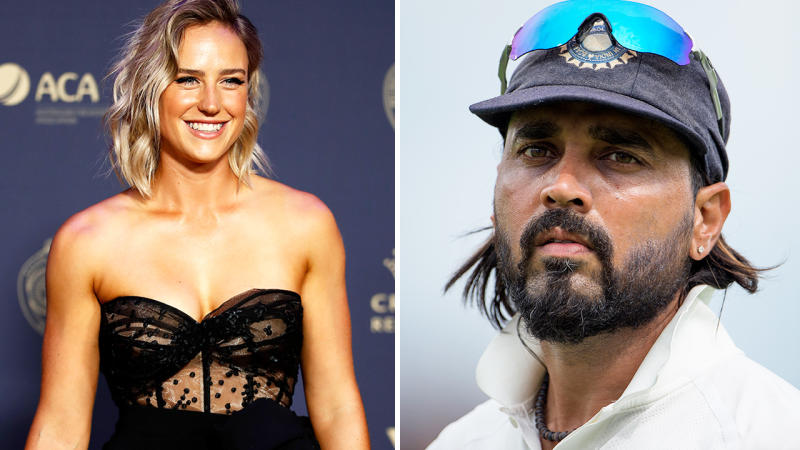 Ellyse Perry and Murali Vijay, pictured here in Australia in 2019.