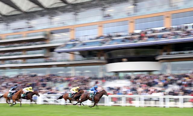 """<span class=""""element-image__caption"""">Blue Point showed plenty of speed on his way to Ascot success on Wednesday.</span> <span class=""""element-image__credit"""">Photograph: Adam Davy/PA</span>"""
