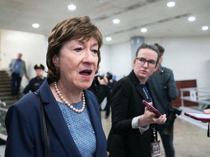 Sen. Susan Collins on February 5, 2020.